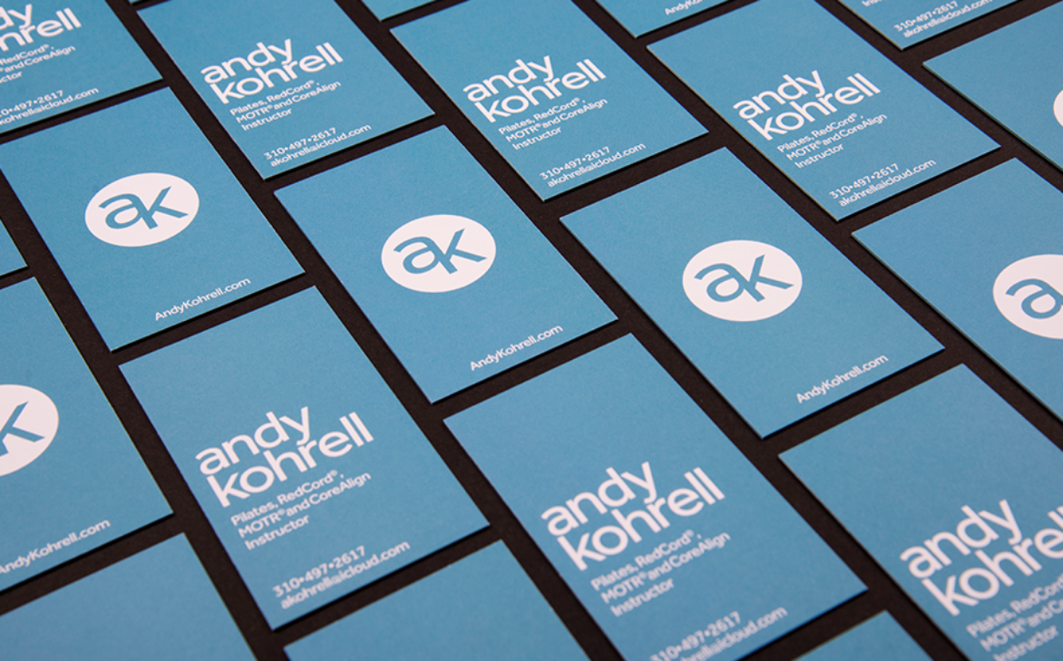 Andy Kohrell Fitness Business Card Design by Amata Agency